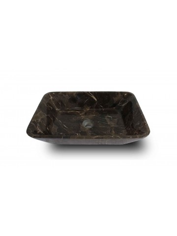 Lavabo in Emperador dark quadrato