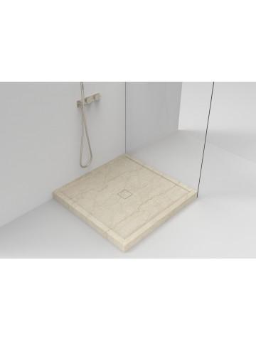 Piatto doccia scatolato in Botticino (Piletta di marmo)