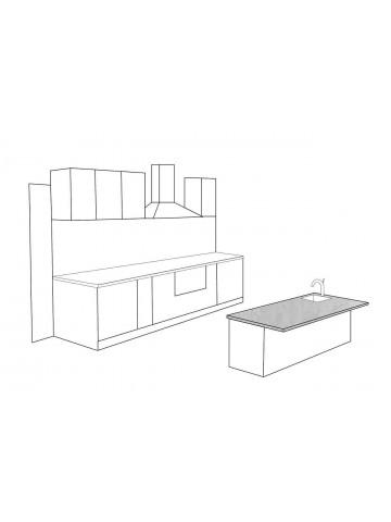 Alzata top mobile cucina in marmo bianco di carrara su misura trattata - Top marmo cucina prezzi ...